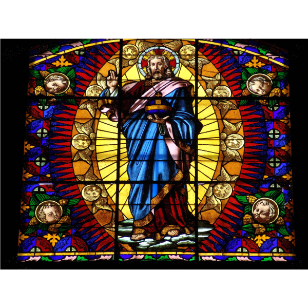 Montalcino Stained Glass Mural