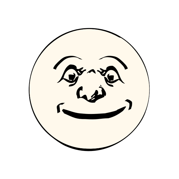 Moon happy