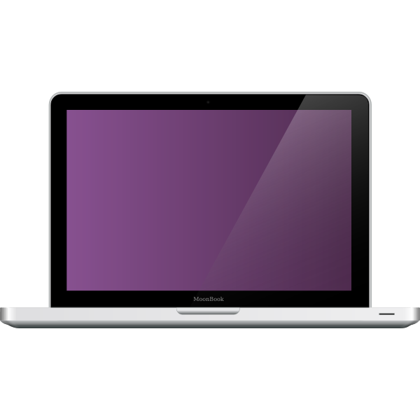MoonBook laptop vector illustration