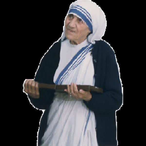 Mother Teresa Mosaic Public Domain Round