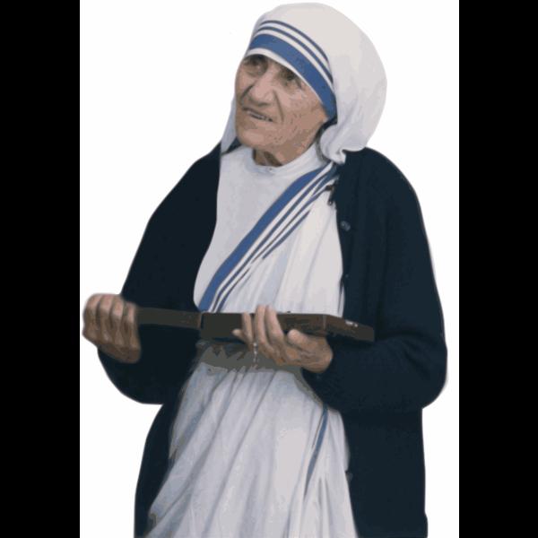 Mother Teresa Public Domain Trace