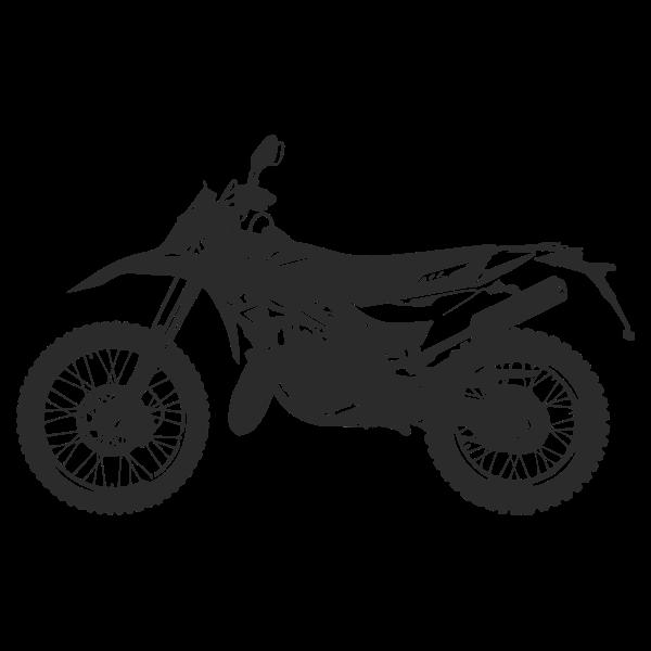 Motorbike Enduro Silhouette 3