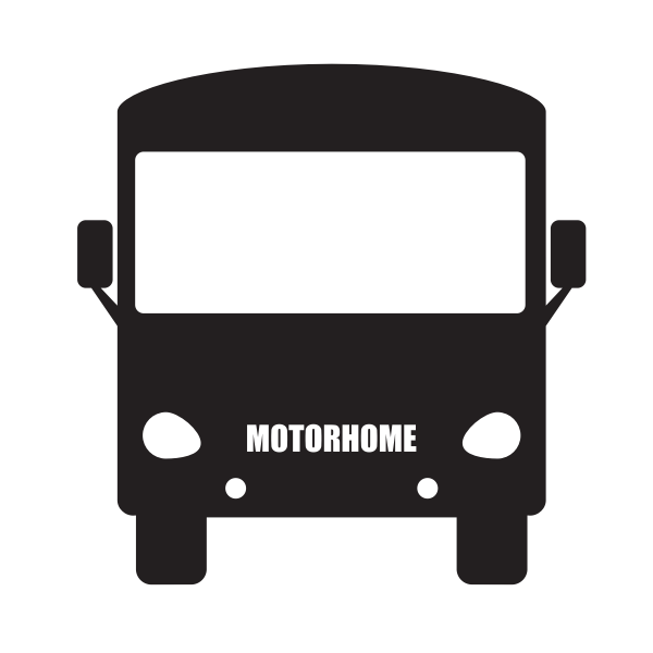 Motorhome silhouette vector clip art