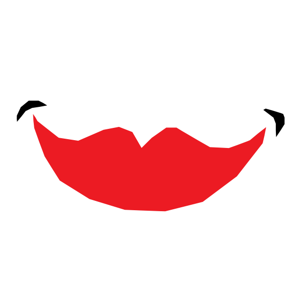 Red smiling lips
