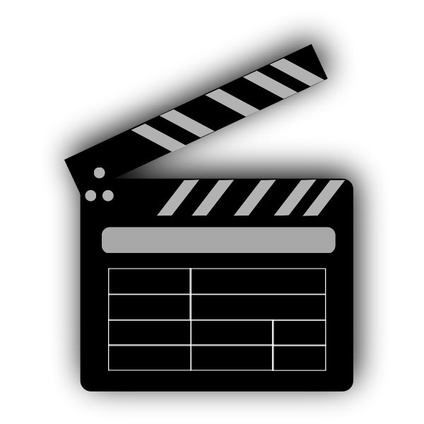 Vector drawing of a clapperboard