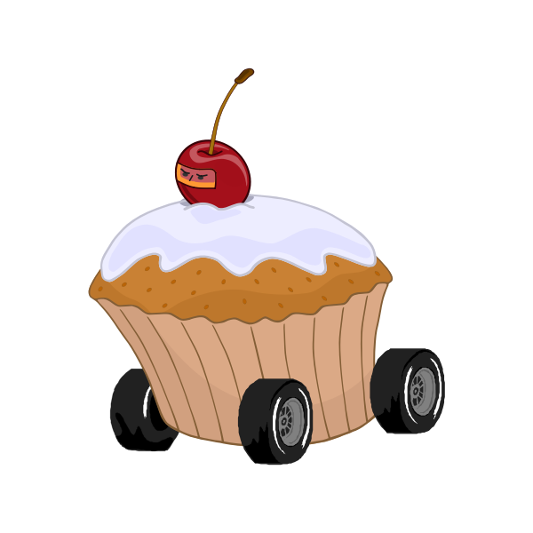 Muffin with wheels