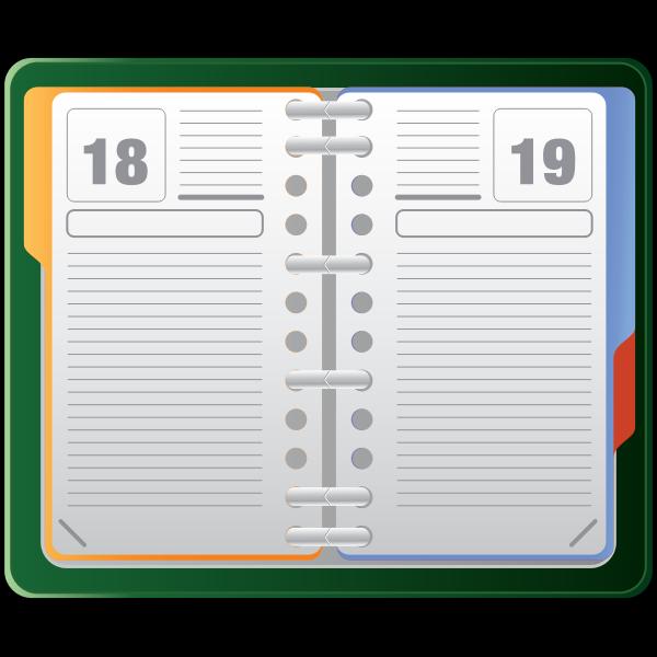 Diary vector clip art