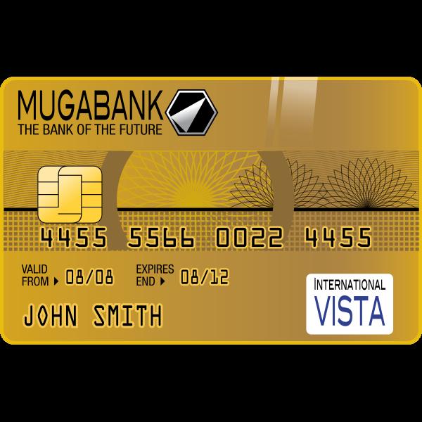 Golden Credit Card Vector