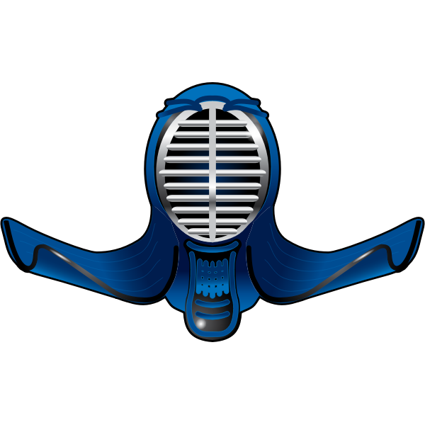 Vector image of a Kendo helmet