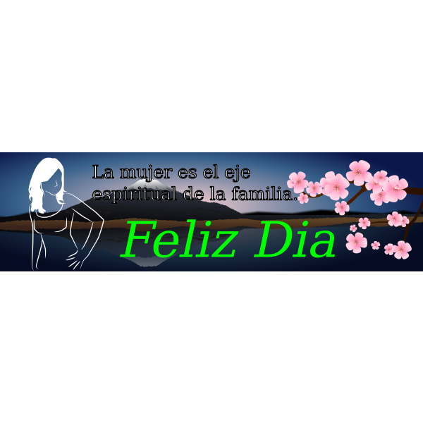 Vector image of banner for woman's day in Spanish