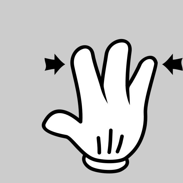 A multitouch icon
