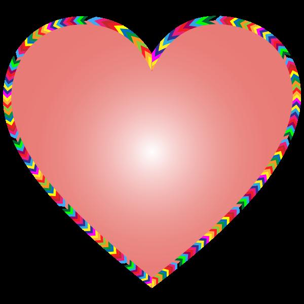 Multicolored Arrows Heart Filled 3