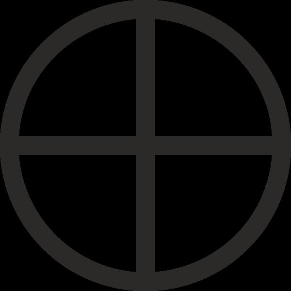 Mundane cross encircled sign vector image