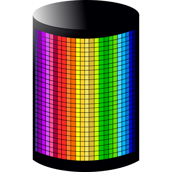Rainbow color light vector illustration