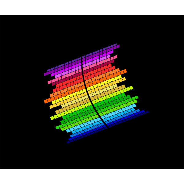 Music equalizer vector graphic