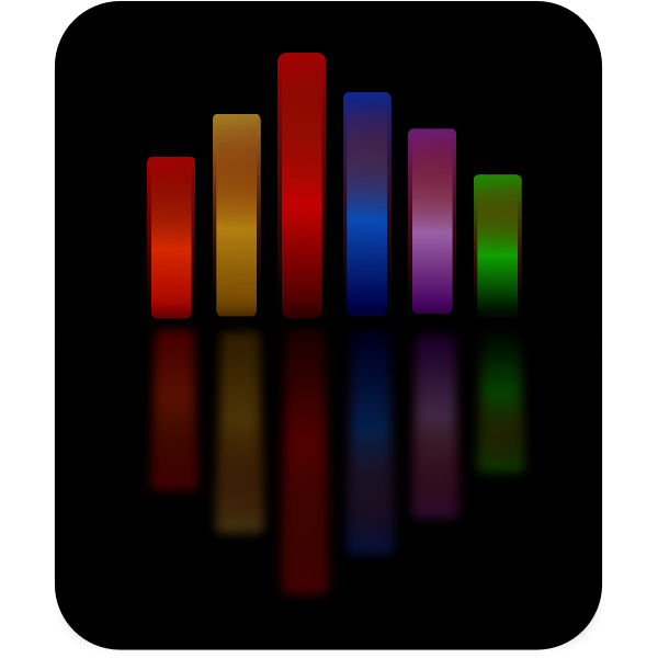 Simple music equalizer vector drawing
