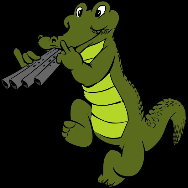 Musical crocodile (colour)