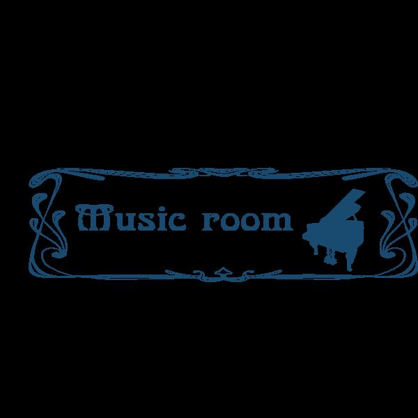 Music room door sign vector image