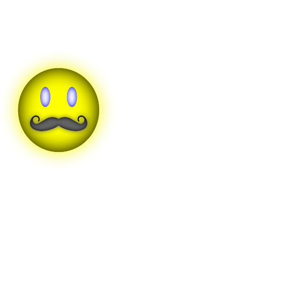 Smiley with mustache vector image