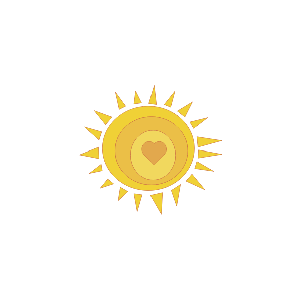 Love sunshine vector illustration