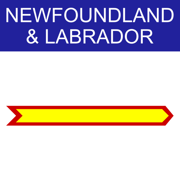 Newfoundland & Labrador symbol vector illustration