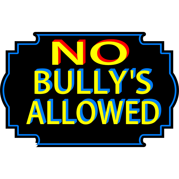 No bullies allowed vector sticker