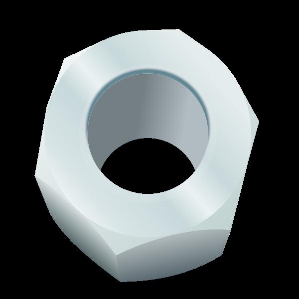 Hexagonal nut vector image