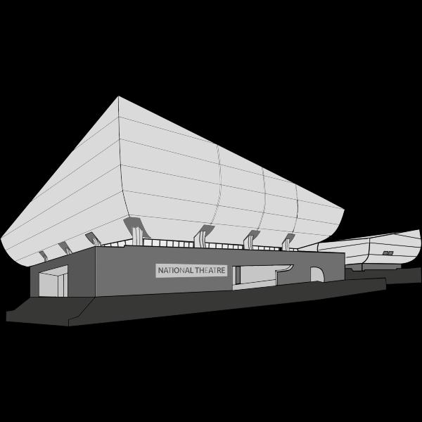 Vector clip art of national theatre building