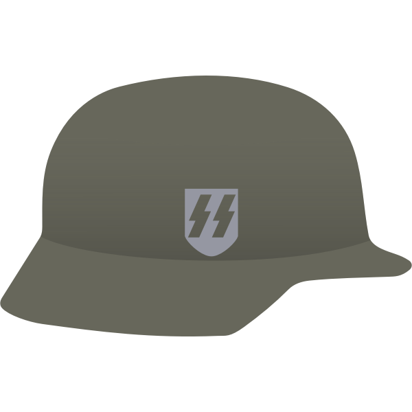 Nazi helmet vector image
