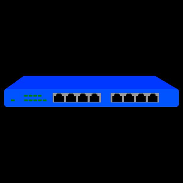 ProSafe 8 Port 10/100 wireless router vector clip art