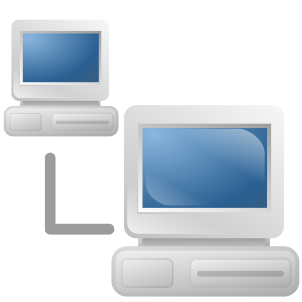 Computer network icon vector graphics