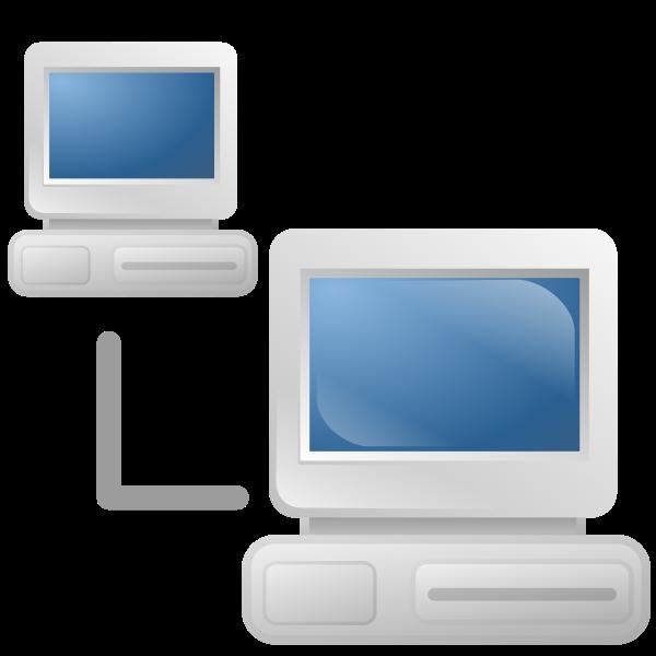 Computer network icon vector graphics