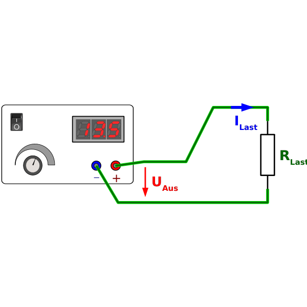 Power supply electric diagram