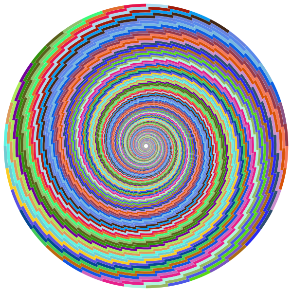 Colorful swirl vector image