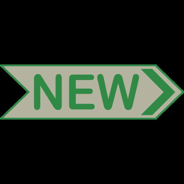 'NEW' Arrow Sign