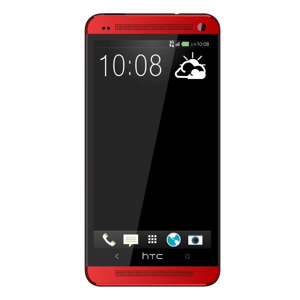 New hTC one red