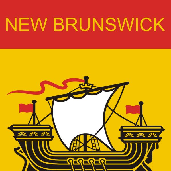 New Brunswick Flag vector image