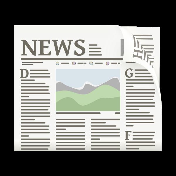 Vector illustration of newspaper web icon