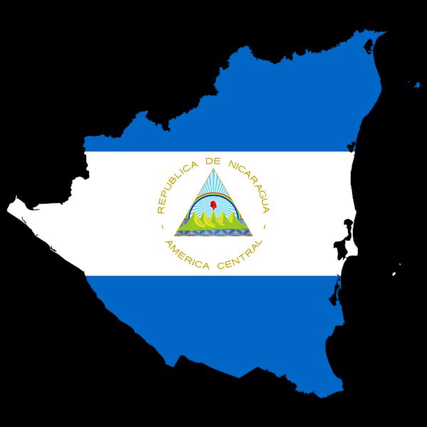 Nicaragua's map and flag