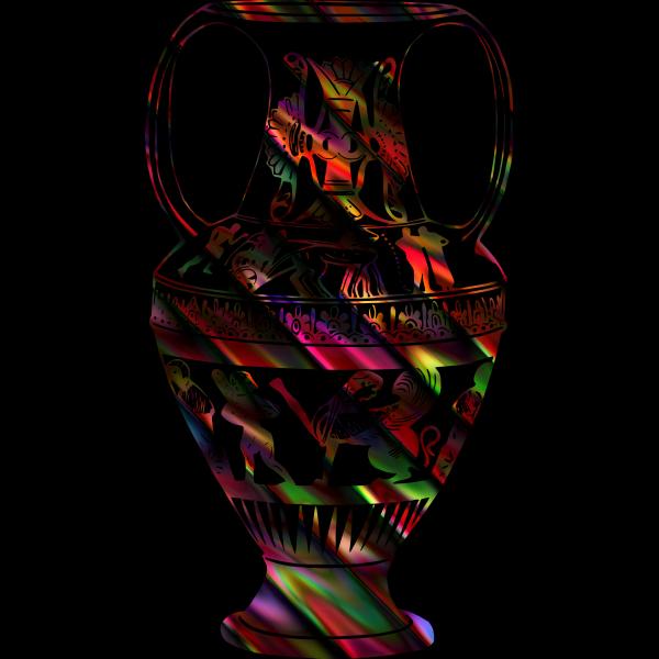 Colorful vase sketch
