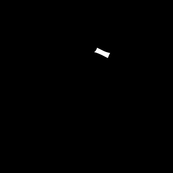 Ninja hiding vector image