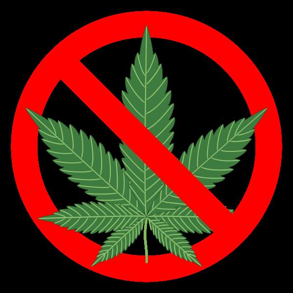 No marijuana sign