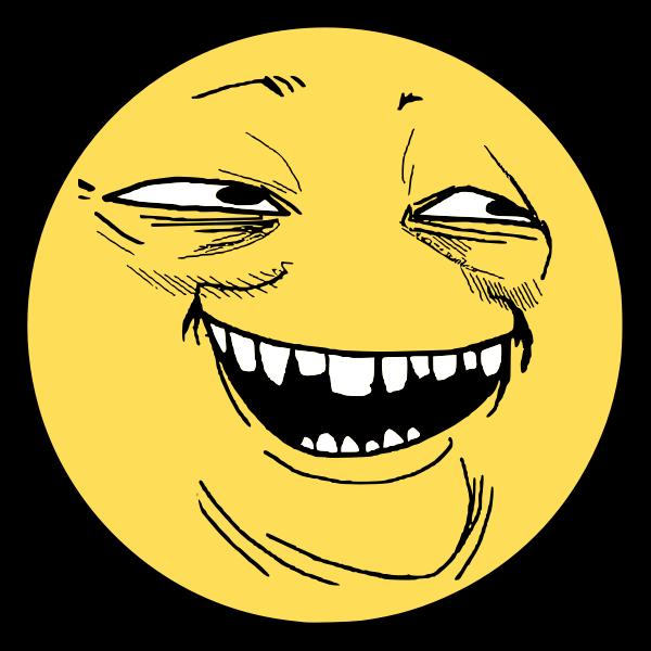 Cheeky smile smiley vector image