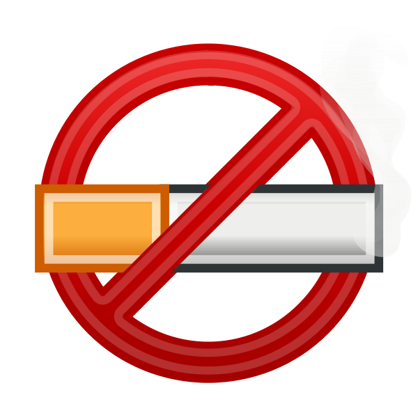 No Smoking 3D symbol vector image
