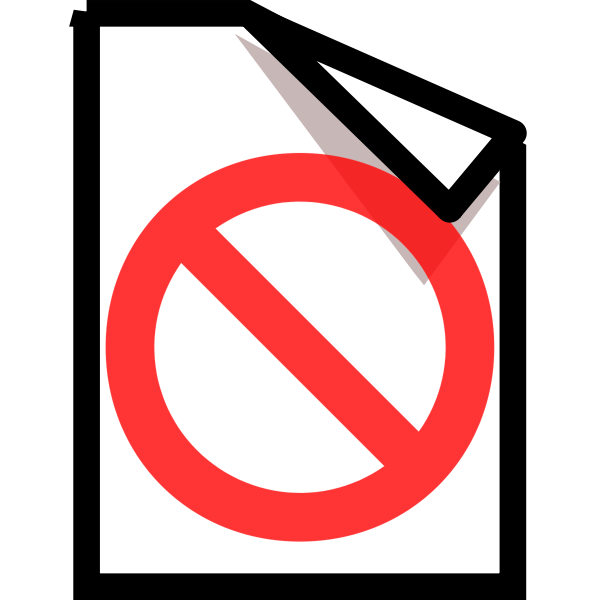 Vector graphics of forbidden document computer OS icon