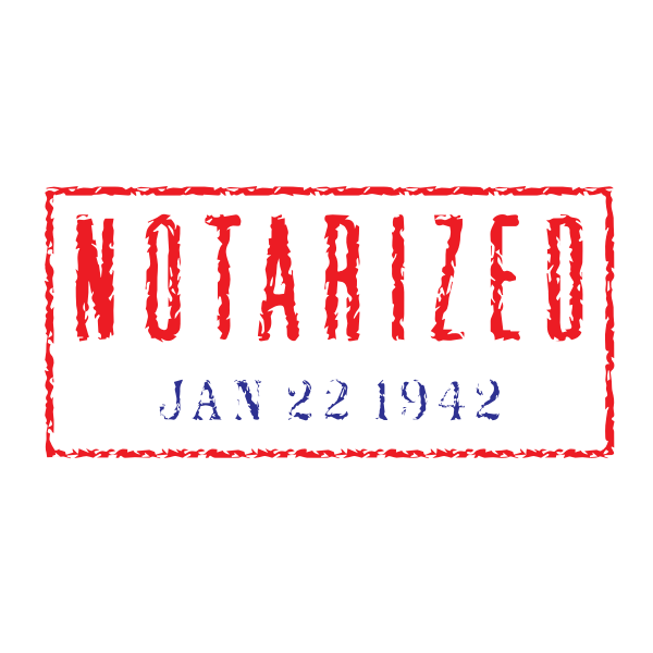 Notarized stamp imprint vector graphics