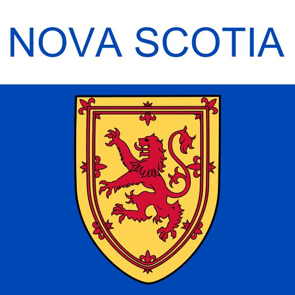 Nova Scotia symbol vector clip art