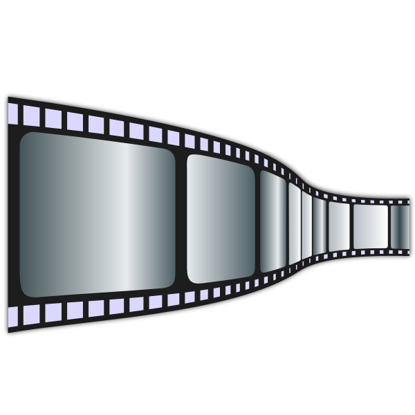 Vector clip art of movie tape