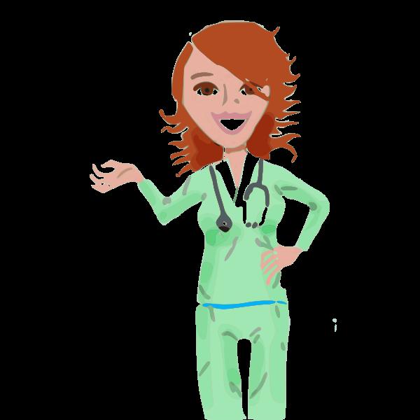 Vector clip art of professional medical nurse