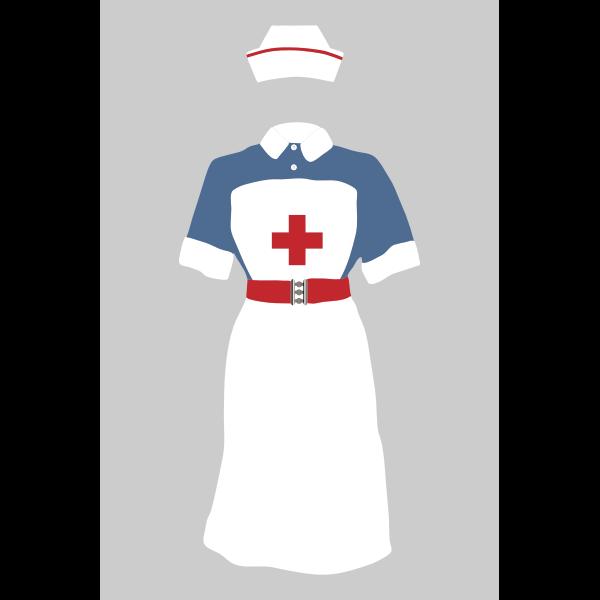 Nurse's uniform - Free SVG